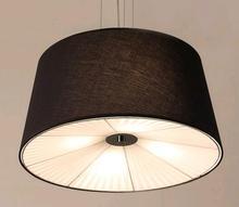 A1 Американский сельский местности Nordic современный минималистский стиль гостиной столовой льняной ткани подвесной светильник Ж.