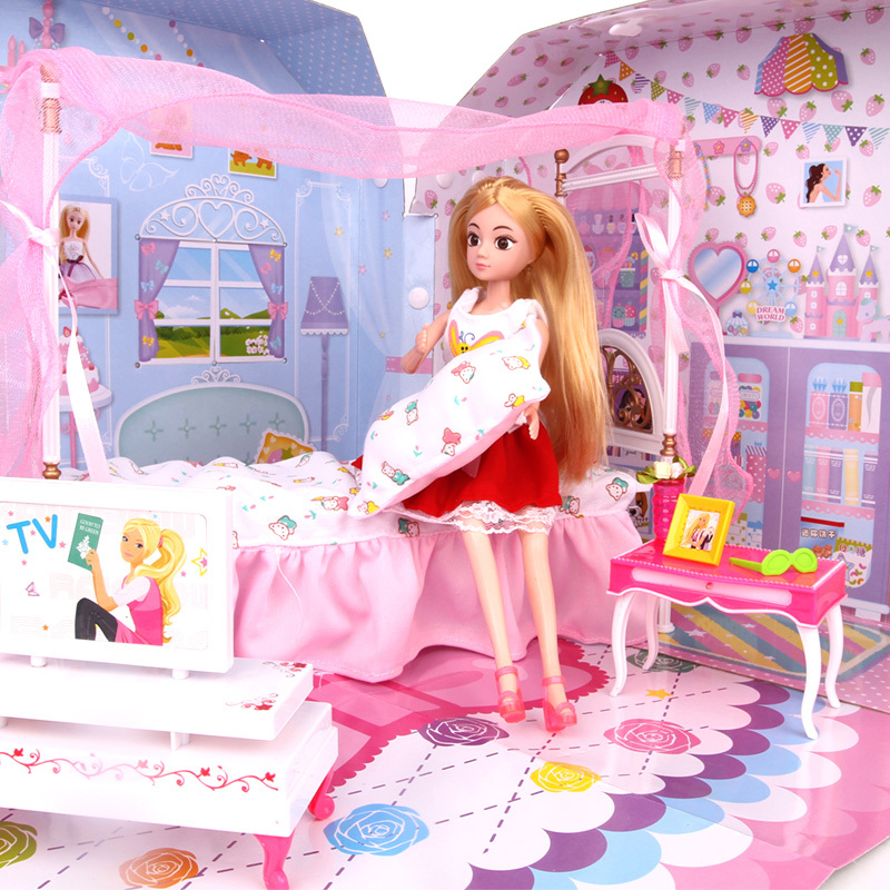 Jiao Children Barbie Doll House Big Sweet Dream Wardrobe Gift Set