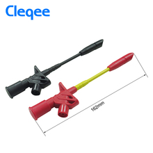 Cleqee P5005 2pcs 10A Professional Piercing Needle Test Clips Multimeter Testing Lead Probe Hook with 4mm Socket