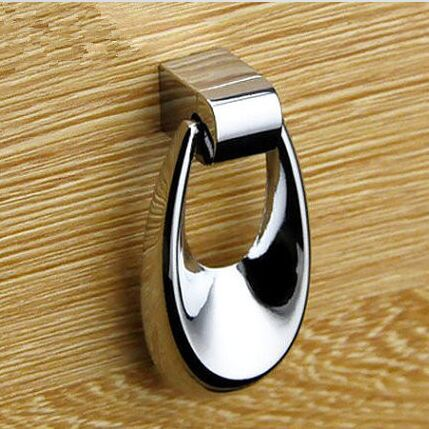 Shaky Pendant Drawer Shiny Silver Kitchen Cabinet Pull Bright Chrome Dresser Cupboard Furniture Door Handle