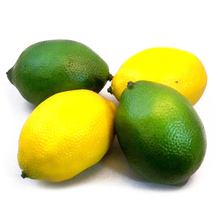 2pcs Yellow 2pcs Green Artificial Fake Lemons Limes Fruit Theater Props Home Party Decorations