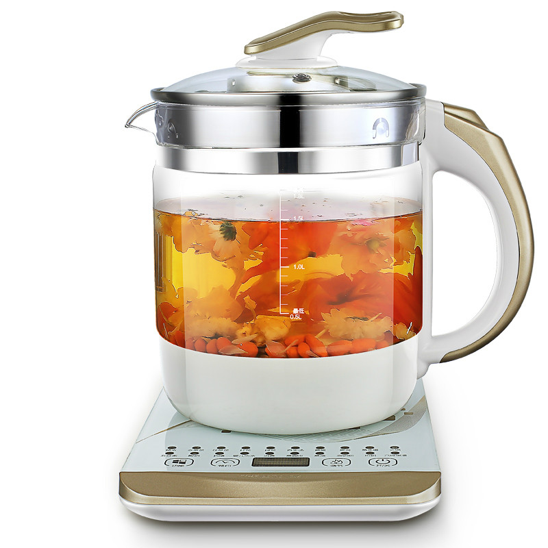 Electric kettle Curing pot Fully automatic thickened glass multi-function electric black tea split Safety Auto-Off Function fully automatic tea making black steam electric kettle glass machine safety auto off function