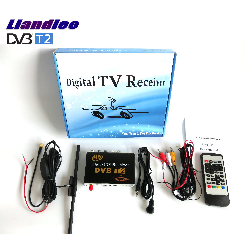 Liandlee HD DVB-T2 Car Digital TV Receiver Host Mobile TV Turner Box Single Antenna / Thailand, Indonesia, India DVB-T2-M-689