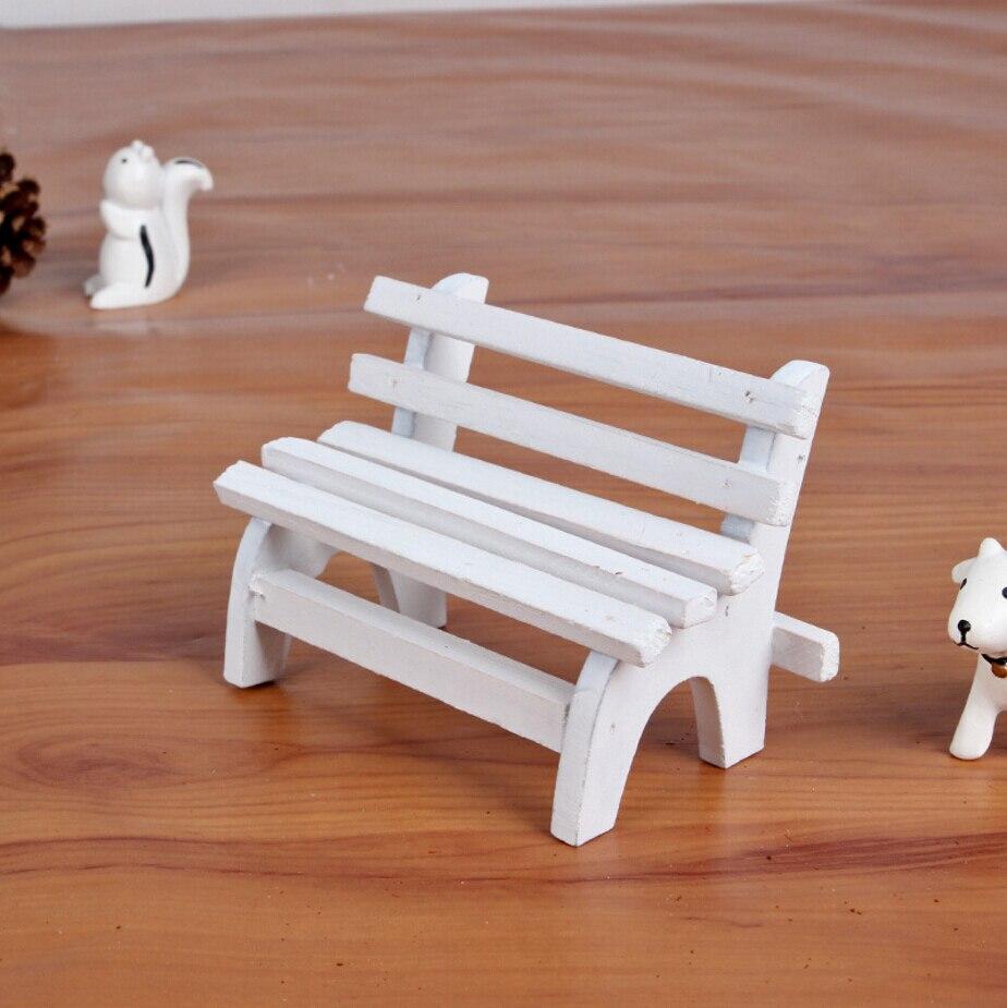 Artesan a decorativa de madera maciza mini banco de - Banco de madera ...