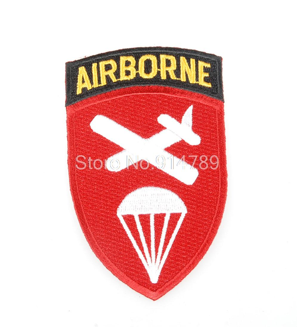 WWII US ARMY AIRBORNE COMMAND DIVISION PARATROOPER BADGE PATCH