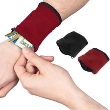 NEW Zipper Fleece Wrist Wallet Pouch Arm Band Bag For MP3 Key Card Storage Bag Case