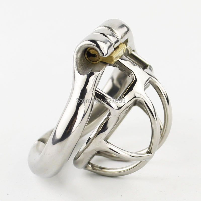 Super Small Male Chastity Device Stainless Steel Chastity Cage With With arc-shaped Cock Ring Sex Toys Men Chastity Belt stainless steel small male chastity belt adult cock cage with arc shaped cock ring sex toys for men chastity device