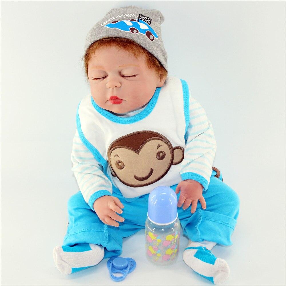 Reborn bébé pleine silicone poupée 23