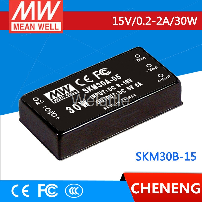 MEAN WELL original SKM30B-15 15V 2A meanwell SKM30 15V 30W DC-DC Regulated Single Output Converter advantages mean well skm30c 15 15v 2a meanwell skm30 15v 30w dc dc regulated single output converter