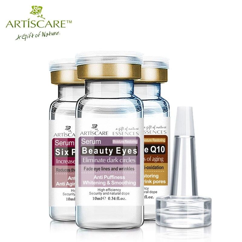 ARTISCARE Anti Aging & Beauty Eyes Serum SET Anti Dark Circles Wrinkles Removal Whitening Coenzyme Q10 Six Peptides cream 3Pcs