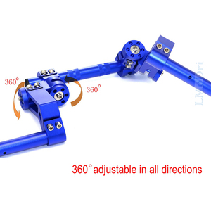 "Image 5 - LMoDri Motorcycle CNC Adjustable Steering Handlebar 7/8"" Removable Handle Bar System 125cc Pit Bike Dirt Bike Motocross Scooter"