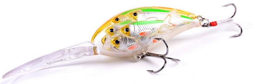 Sea Fishing Minnow Lure Crankbait Floating Minnow Hook 11.5cm//19g