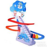 Penguin Climb Stairs Track Toys Children S Classic Track Toys Cartoon Penguin Climb Stairs Electric Music