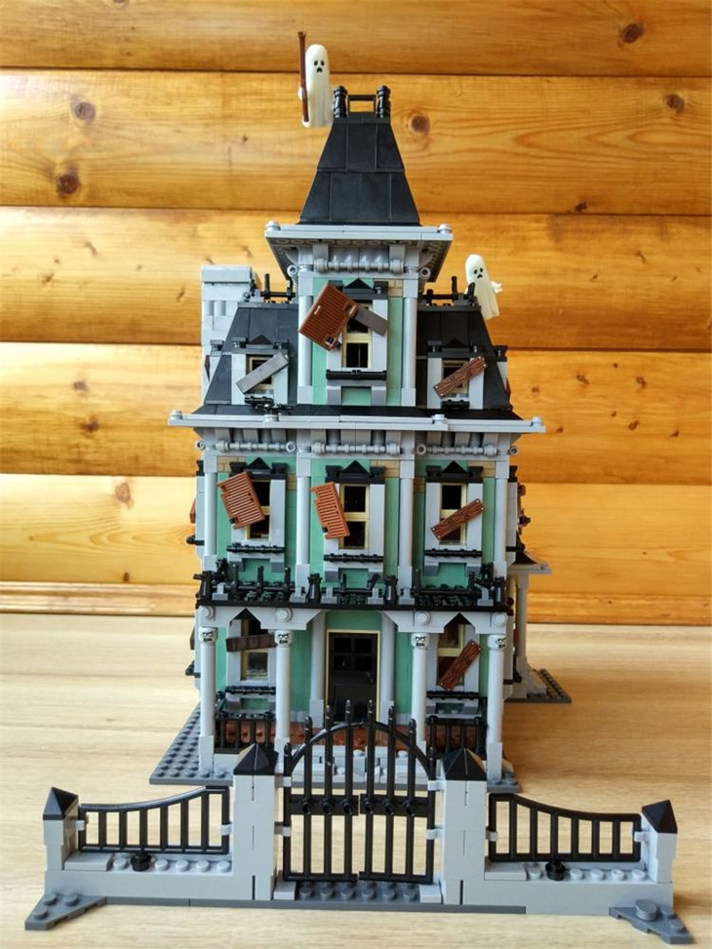 New Monster Fighter The Haunted House Model Building Kits Model Assembling Toys Compatible with Lepins Figures in stock new lepin 16007 2141pcs monster fighter the haunted house model set building kits model compatible with10228