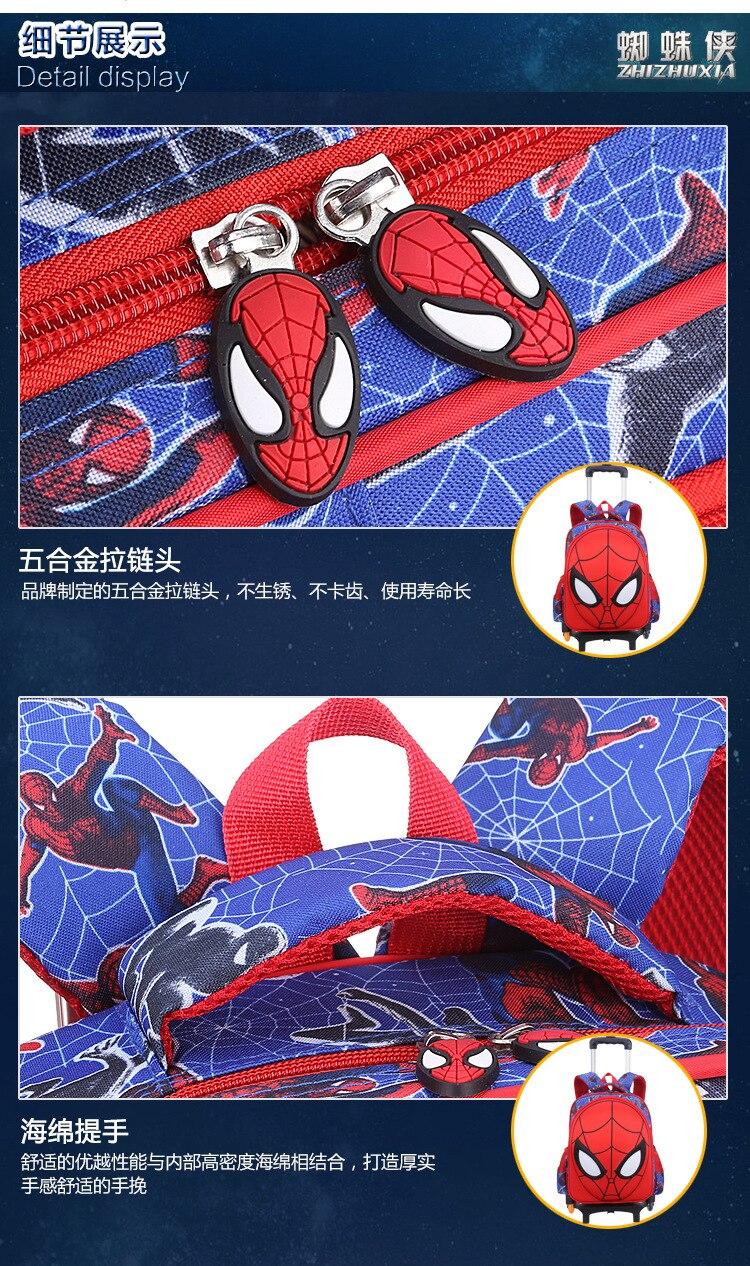 3D Spiderman Kids Primary School Backpack Boys Cartoon Spider Man Kindergarten Student Backpack Daypack Popular (9)
