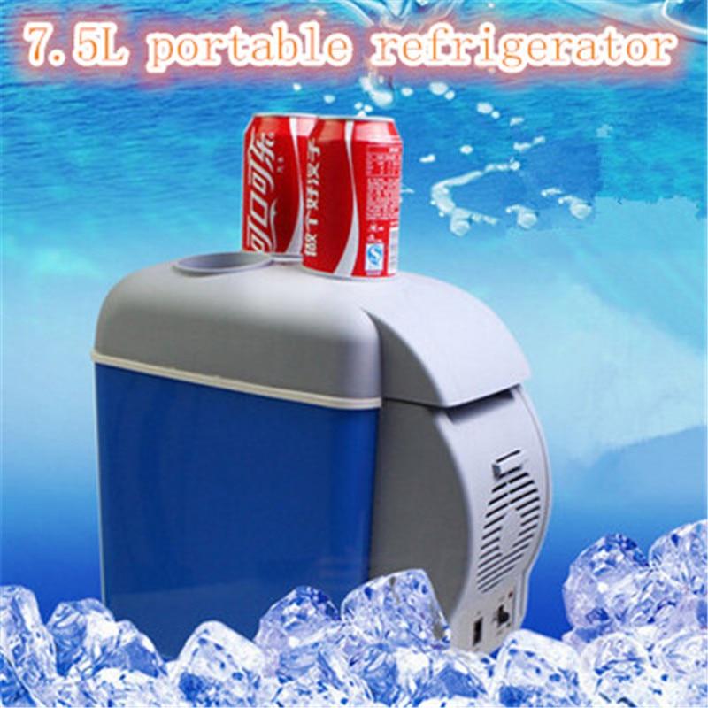 Mini Auto 12V Car home small refrigerator 7.5L portable cooler box & heating box car fridge with compressor 7 5l small fridge household refrigeration refrigerator car dual heating and cooling box home mini