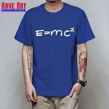 927fec827 HAVE BOY Big Bang theory of evolution Einstein mass energy equation E = mc  ^ 2 Men T Shirt T-Shirt Cotton Tshirt HB171