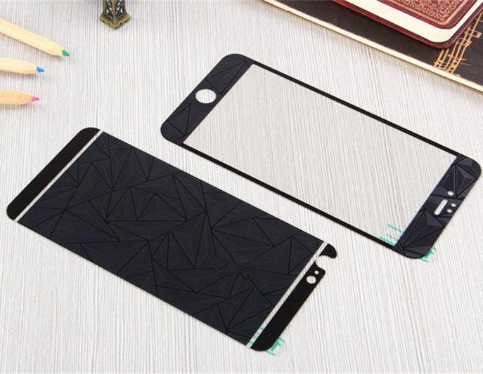 For iPhone 5 5C 5S SE 7 6S 6 Front+Back 3D colorful mirror Tempered glass Screen Protectors Film Guard 9H for iphone 7 7plus
