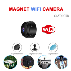 Ímã 1080 P Grande Angular Mini Câmera Sem Fio WI-FI Visão Nocturna do IR IP Gravador De Monitoramento Remoto Filmadoras