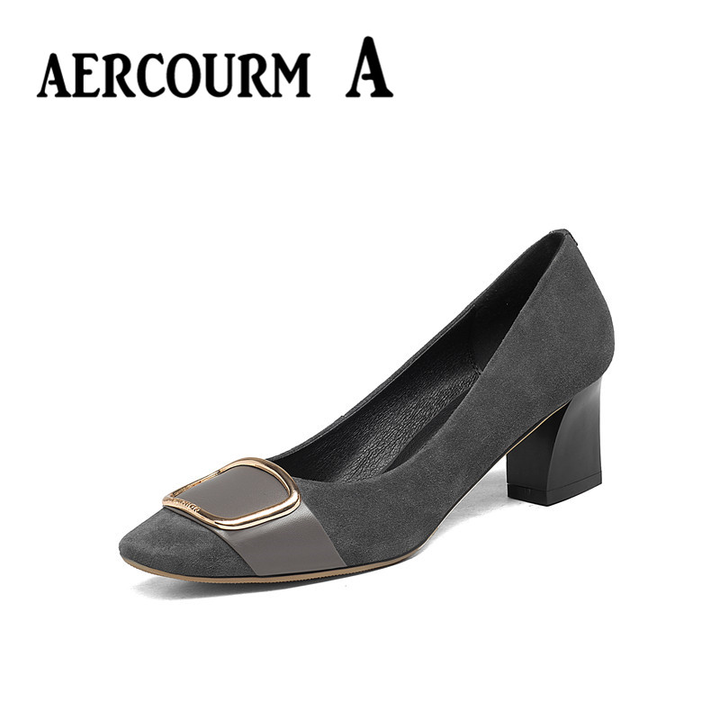 ФОТО Aercourm A 2017 Women Shoes Spring Summer New High Heels Sheepskin Shallow Mouth Shoes Lady Sexy Heels Shoes Women Size 34-43