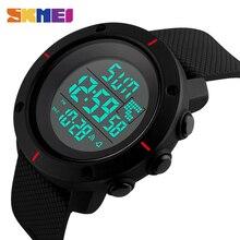 Reloj deportivo SKMEI para hombre, reloj de pulsera Digital militar para exteriores con alarma cronógrafo y luz trasera, relojes impermeables de 50M 1213