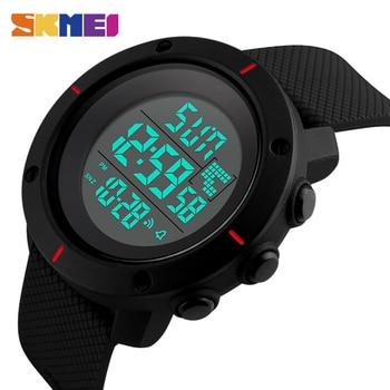 SKMEI Men Sport Watch Big Dial Digital Military Outdoor Wristwatches Back Light Chronograph Alarm 50M Waterproof Watches 1213