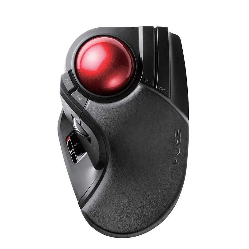 2.4G Wireless Trackball DIP Adjustable Mouse For Professional CAD Drawing Drawing Forefinger Big Custom Mouse For Windows OS