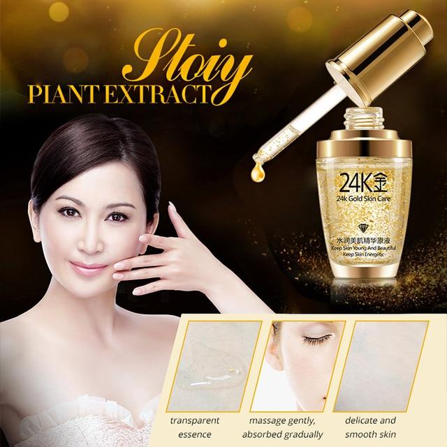 BIOAQUA 24K Gold Face Cream Whitening Moisturizing 24 K Gold Day Creams & Moisturizers 24K Gold Essence Serum New Face Skin Care 4