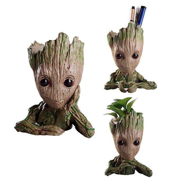 Groot guardiões da Galáxia Crianças Figuras de Ação Brinquedos Modelo Vaso Pote Caneta Melhores Presentes de Natal Para Crianças de Decoração para Casa