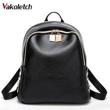 Мода 2017 г. Для женщин рюкзак высокое качество из искусственной кожи Рюкзаки для подростков Обувь для девочек Женский школьная сумка рюкзак Mochila A-80