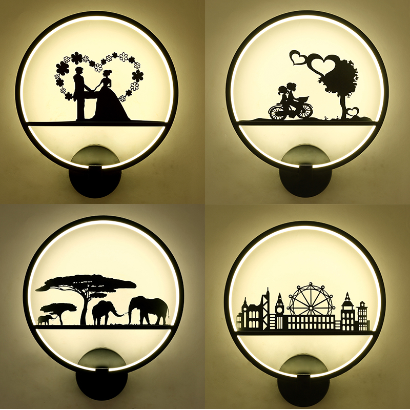 Children wall lamp individuality creative atmosphere contracted and contemporary light LED corridor light nordic led wall lamp contracted and contemporary artistic personality tv wall lamps the head of a bed lamp corridor lamp