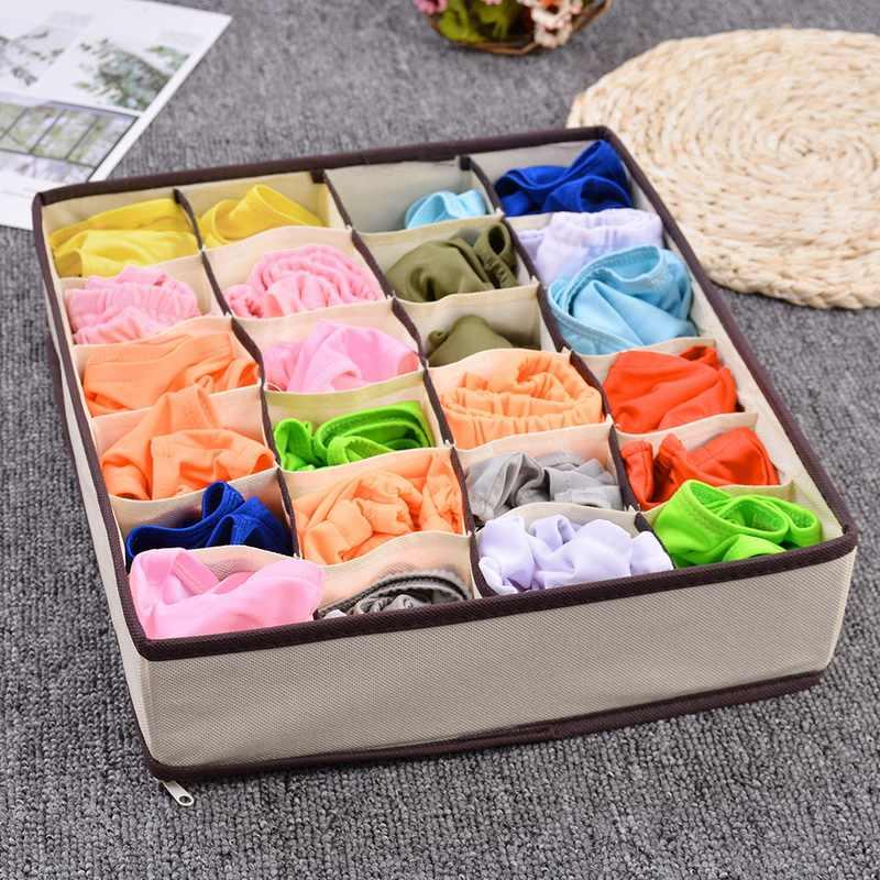 Urijk Multi-tamanho Underwear Bra Caixa de Armazenamento Organizador De Armazenamento Em Casa Para Meias Sutiã Cueca Lenços Closet Wardrobe Organizadores INS