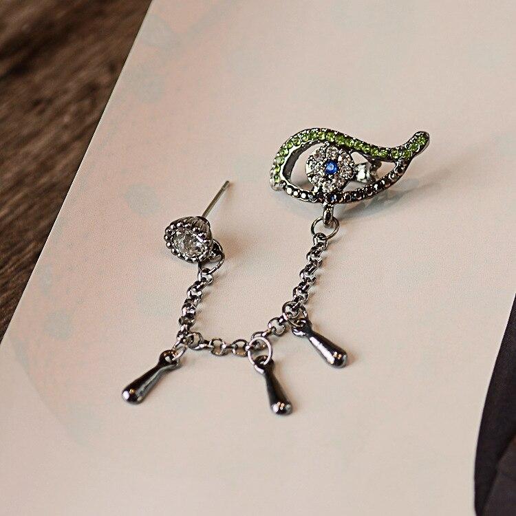 eye clip on earrings water drop ear cuff masculino women earrings rhinestone ear jacket wrap earcuff brincos in Clip Earrings from Jewelry Accessories