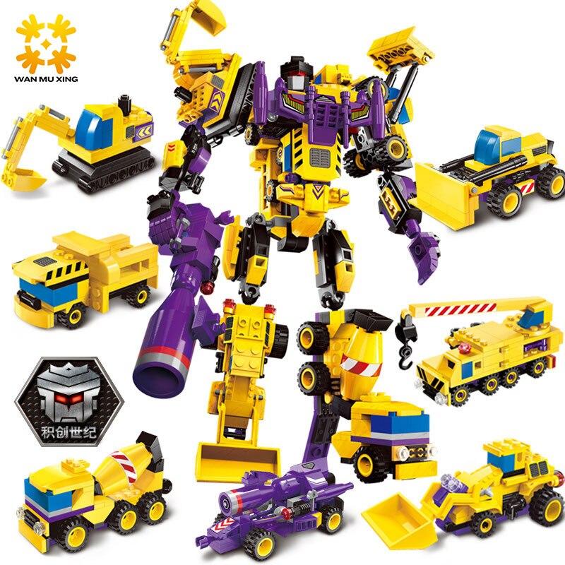 599 pz 7 in 1 Il Creatore Dio Robot Building Blocks imposta Per Bambini Bambini Giocattoli Regali Di Natale compatibile con i principali marca blocchi