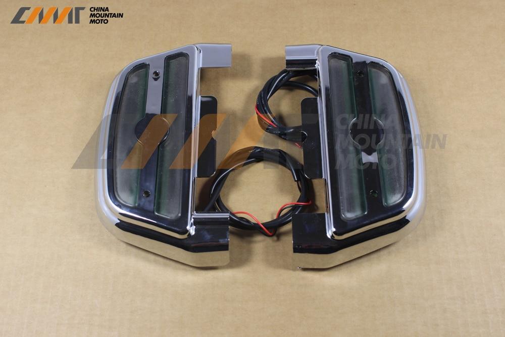 Chrome lumière LED housse de protection pour passager pour Harley Softail Touring 1984-up