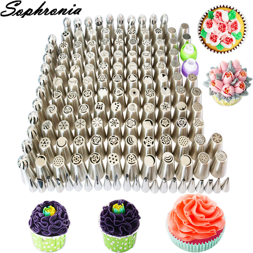 Sophronia 149PCS Stainless Steel Pastry Nozzles Set Icing Cream Piping Nozzles Pastry Decorating Tips Cake Decorator