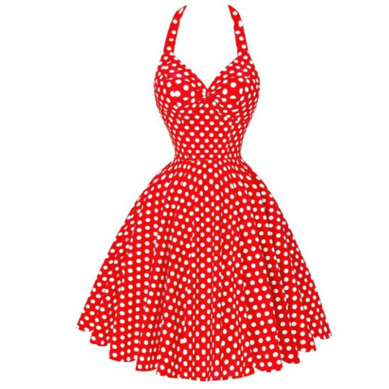 2017 Sexy Summer Beach Dress pin up 2017 Retro Vintage Women Clothing 50s  60s Big Swing 831518366f37