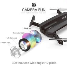JXD 523 Rastreador RC FPV Quadcopter Drone Con Cámara HD de Bolsillo Wifi Control del teléfono Mini Dron VS JJRC H37 Xs809hw Plegable Dron