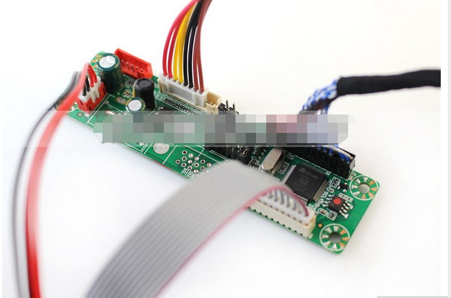 Universal LCD Monitor Driver Board Kit W/ Keypad VGA Cable Built-in 23 Programs Support 10-42'' LVDS Screen New