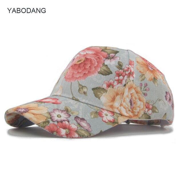 0c701738a8481 Funky Junque de mujer Floral Daisy de flor de peonía imprimir gorra de béisbol  sombrero de