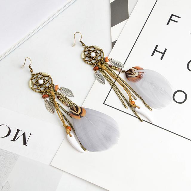 Bohemian Hexagram Dreamcatcher Earrings