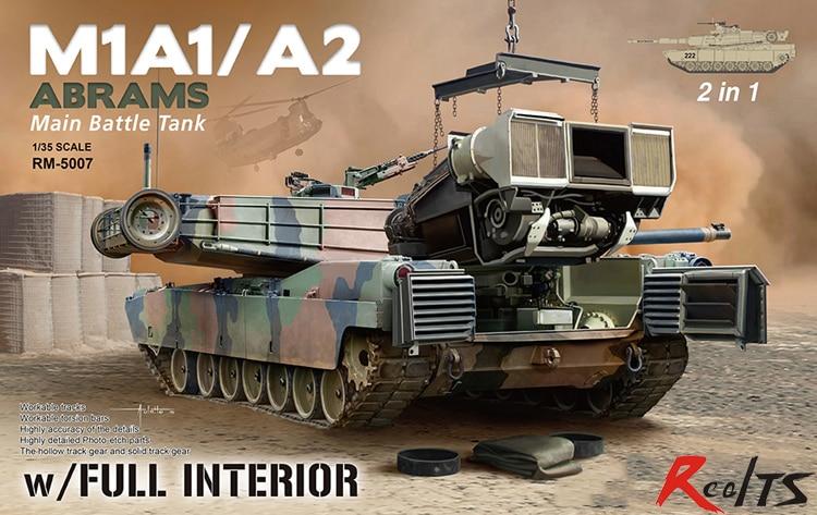 RealTS RMF 1/35 RM-5007 M1A1/A2 ABRAMS Main battle tank w/FULL INTERIOR model kit