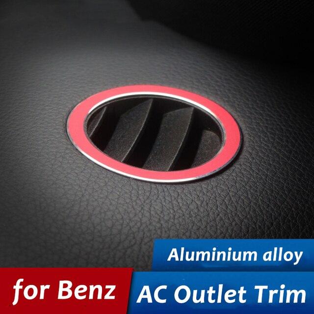 2 Stks Voor Mercedes Benz Auto Ac Outlet Decoratie Ring Sticker Air