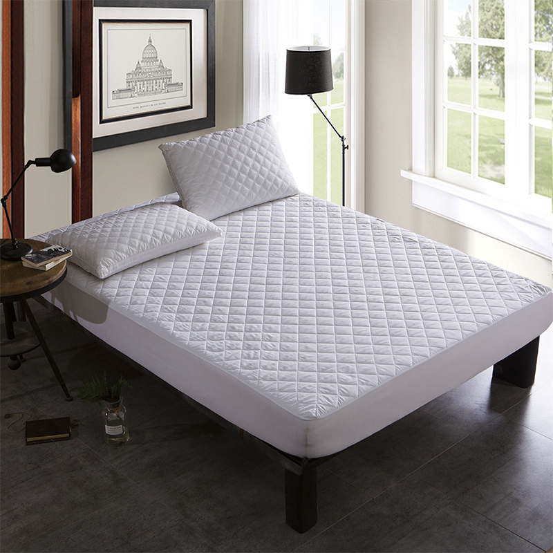 Brushed Fabric Quilt Waterproof Mattress Pad Cover Fitted ...