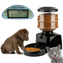 Free Shipping Details about 5.5L Automatic Pet Feeder Food Dish Bowl Dispenser LCD Display Dog Cat Black New l12