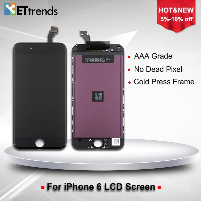 imágenes para 40 UNIDS/LOTE Un grado Sin píxeles muertos LCD para iPhone 6 LCD 4.7 Pantalla Táctil de Cristal Digitalizador Pantalla Asamblea Envío Libre de DHL