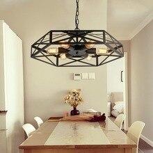 Lámpara geométrica Hexagonal iluminación Industrial Vintage lámpara colgante luz americana lámpara Edison bombilla 110 V-220 V