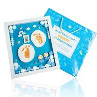 Photo Frame Baby Footprint Ink Pad Hand Print Memorial Commemorative Gifts Newborn Foot Print Handprint Wooden Home Decoration