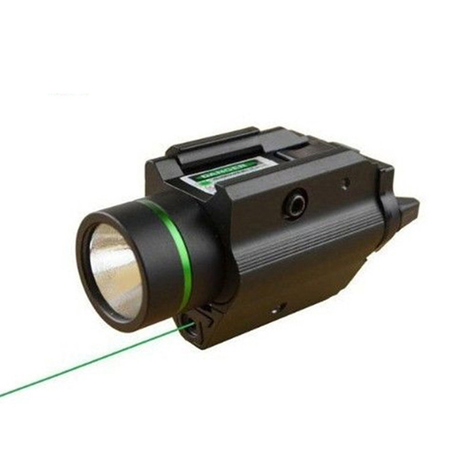 Tactical Green Laser Sight with  LED Flashlight 2 in 1 Combo with 20mm Picatinny Rail Weaver for Glock 17 Hunting tactical hunting compact green dot laser sight scope with led flashlight combo fit for 20mm rail