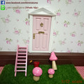 1/12 Scale Wooden Tooth Fairy Door Open Outwards Miniature Magic Door